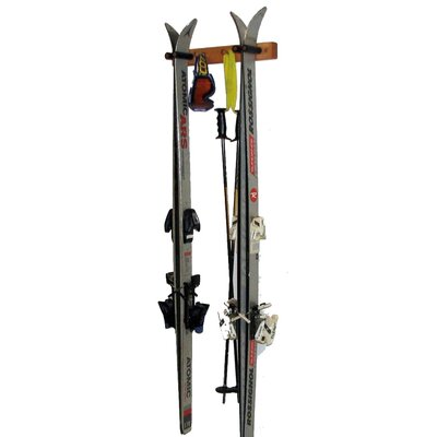 Del Sol Racks Ski Pine Storage 2 Space Vertical