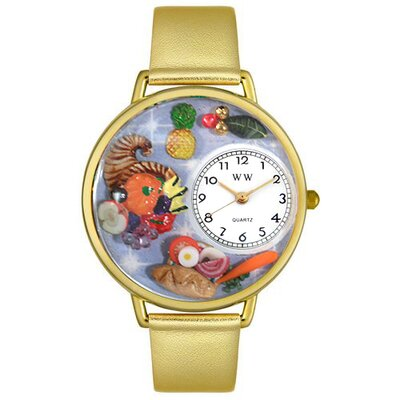 Whimsical Watches Unisex Holiday Feast Watch in Gold