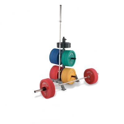 Hampton Fitness Products International Bumper Plate Rack with 2 International Bar Holders