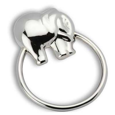 Krysaliis Elephant Ring Sterling Silver Baby Rattle