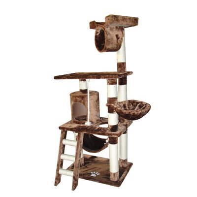 "Kitty Mansions 62"" Boston Cat Tree"