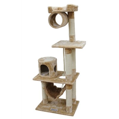 "Kitty Mansions 62"" Dallas Cat Tree"