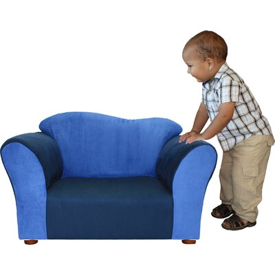 Kid's Wave Microsuede Chair