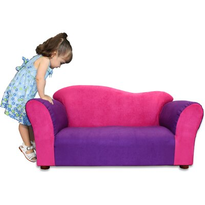 Fantasy Furniture Kid's Wave Microsuede Sofa