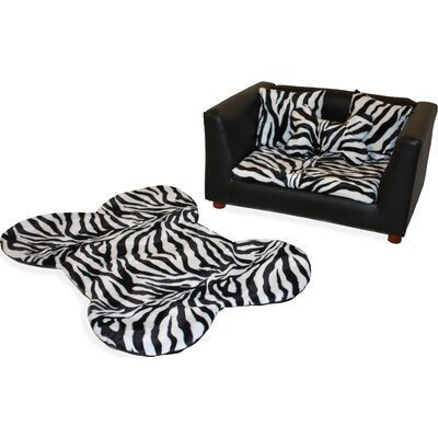 Fantasy Furniture Deluxe Orthopedic Zebra Memory Foam Dog Chair Set