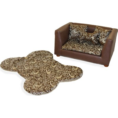 Fantasy Furniture Deluxe Orthopedic Elegant Memory Foam Dog Bed Set