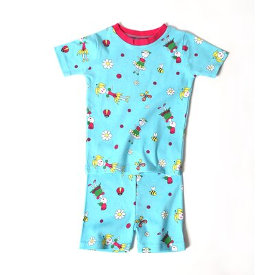 New Jammies Flower Girls PJ Short Set