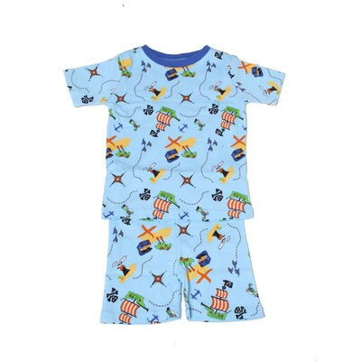 New Jammies Organic Pirate Treasure Map Pajama Short Set