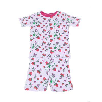 New Jammies Organic Strawberry Fields Pajama Short Set