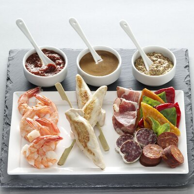 Luigi Bormioli Slate 8 Piece Serving Set