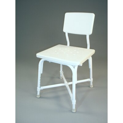 Heavy Duty Large Seat Bath Bench in White with Back