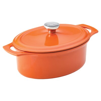 Rachael Ray Cast Iron 3.5 Quart Covered Oval Casserole