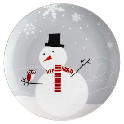 "Rachael Ray Little Hoot & the Snowman 8"" Dessert Plates: Set of (4)"