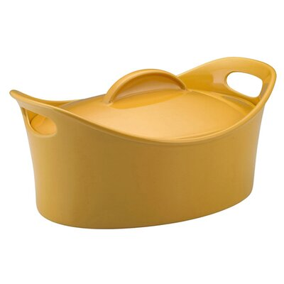 Rachael Ray Bubble and Brown 4.25-Qt. Stoneware Casserole