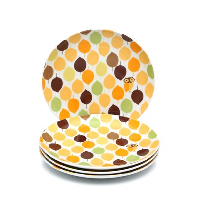 "<strong>Rachael Ray</strong> Little Hoot 8"" Salad/Dessert Plates: Set of (4)"