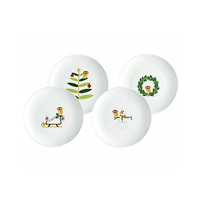 "Rachael Ray Holiday Hoot 9.5"" Dessert Plate"