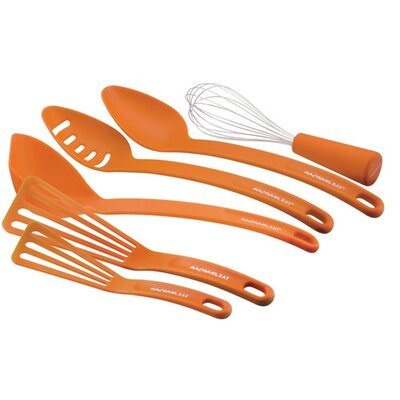 Rachael Ray 2 Piece Spoon Set, Ladle,Whisk and 2 Piece Nylon Spatula Set