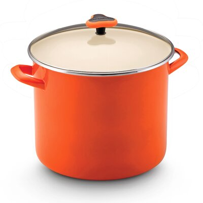 Rachael Ray Enamel On Steel Stockpot with Glass Lid
