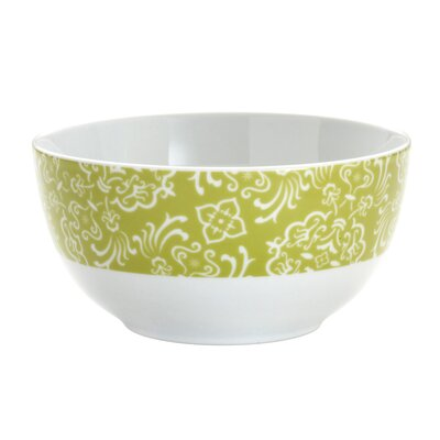 "Rachael Ray Curly-Q Green 5.5"" Cereal Bowls: Set of (4)"