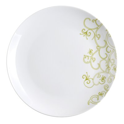 "Rachael Ray Curly-Q Green 10.5"" Dinner Plates: Set of (4)"