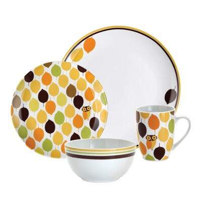 Rachael Ray Little Hoot 16 Piece Dinnerware Set
