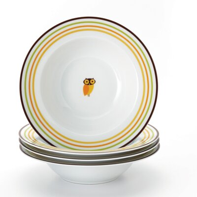 "Rachael Ray Little Hoot 8.5"" Soup/Pasta Bowls: Set of (4)"