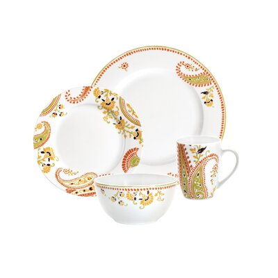 Rachael Ray Dinnerware Paisley 4 Piece Place Setting
