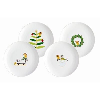 "Rachael Ray Holiday Hoot 9.5"" Dessert Plate"