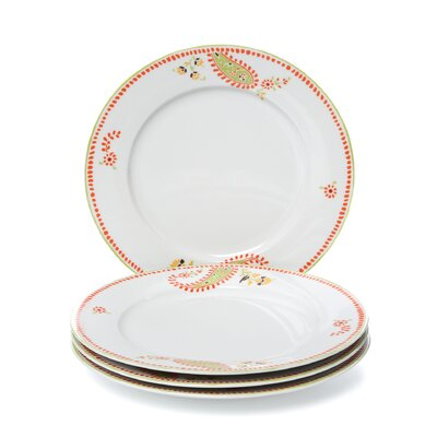 Rachael Ray Dinnerware Paisley Dinner Plate (Set of 4)