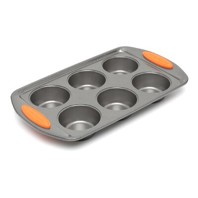 Rachael Ray Yum-O Nonstick 6-Cup Muffin Pan