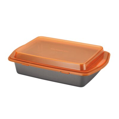 "Rachael Ray Yum-O Nonstick 9"" x 13"" Covered Cake Pan with Lid"