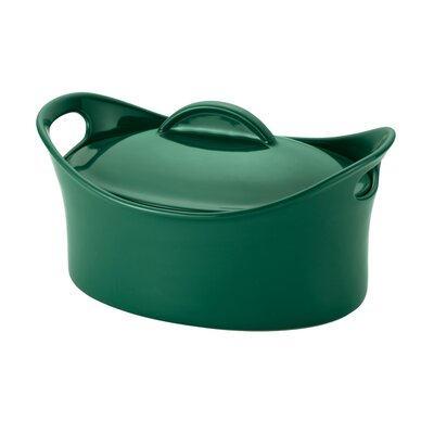 Rachael Ray Stoneware 4.25 Qt. Covered Oval Casserole