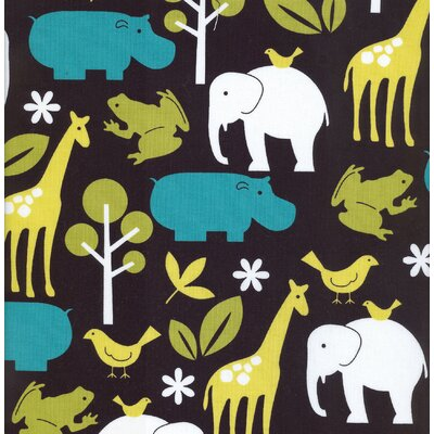 Gus Full Nursery Fabric Zoo Print
