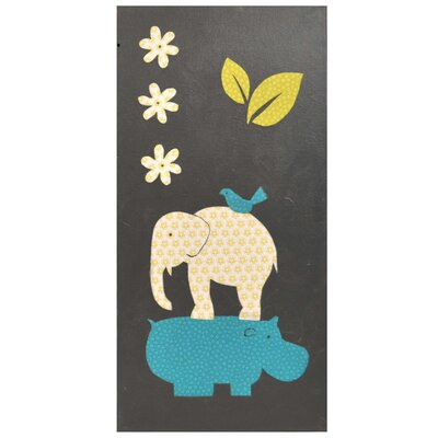 Gus Full Nursery Elephant / Hippo Hand Painted Wall Art