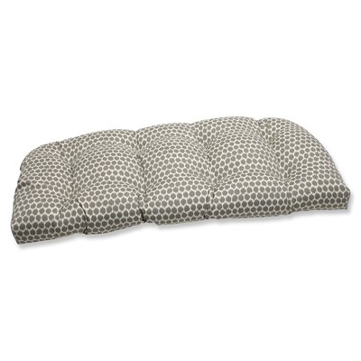 Pillow Perfect Seeing Spots Wicker Loveseat Cushion
