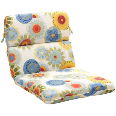 Pillow Perfect Outdoor Rounded Chair Cushion