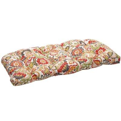Outdoor Wicker Loveseat Cushion