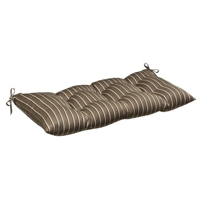 Outdoor Sunbrella Fabric Tufted Loveseat Cushion