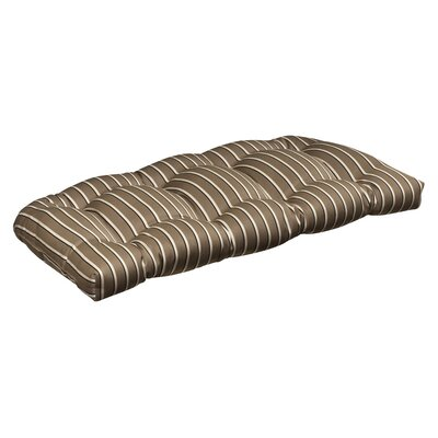 Pillow Perfect Outdoor Sunbrella Fabric Wicker Loveseat Cushion