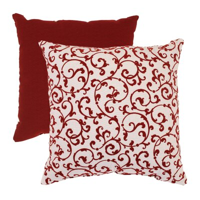 Pillow Perfect Flocked Damask Throw Pillow