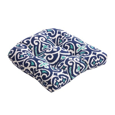 Pillow Perfect Damask Chair Cushion
