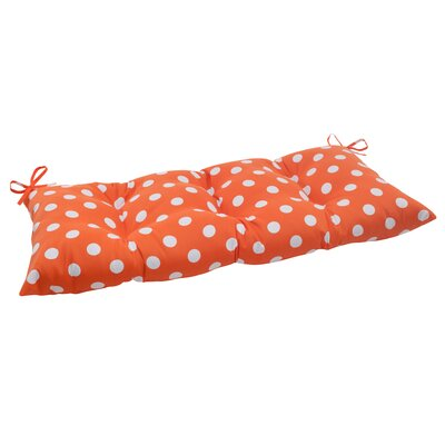 Polka Dot Tufted Loveseat Cushion