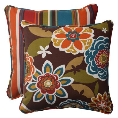 Annie / Westport Reversible Corded Throw Pillow (Set of 2)
