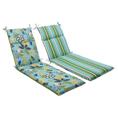 Pillow Perfect Calypso / Tropez Reversible Chaise Lounge Cushion