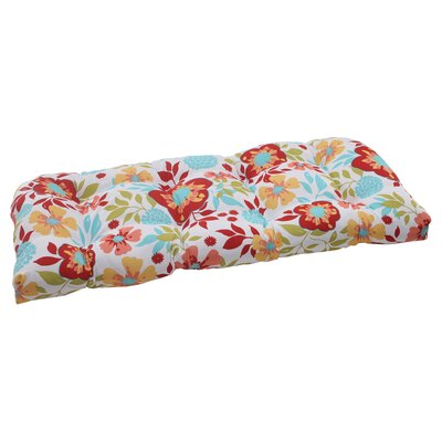Pillow Perfect Maya Wicker Loveseat Cushion
