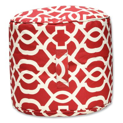 Pillow Perfect New Geo Bean Bag Ottoman