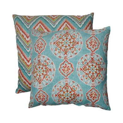 Pillow Perfect Mirage and Chevron Polyester Floor Pillow