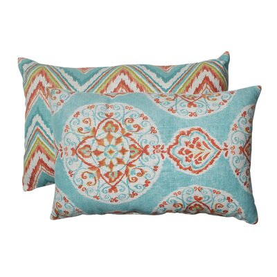Pillow Perfect Mirage and Chevron Polyester Throw Pillow