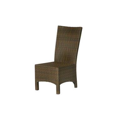 Barlow Tyrie Teak Savannah Woven Side Lounge Chair with Cushion
