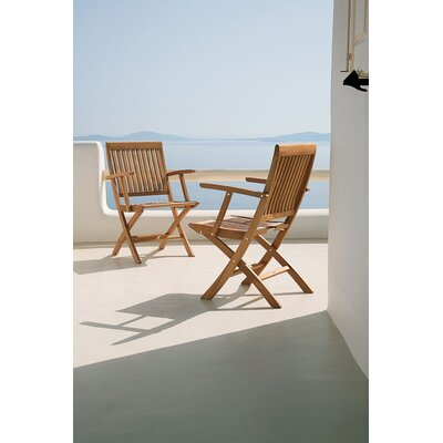 Barlow Tyrie Teak Monaco Carver Folding Chair